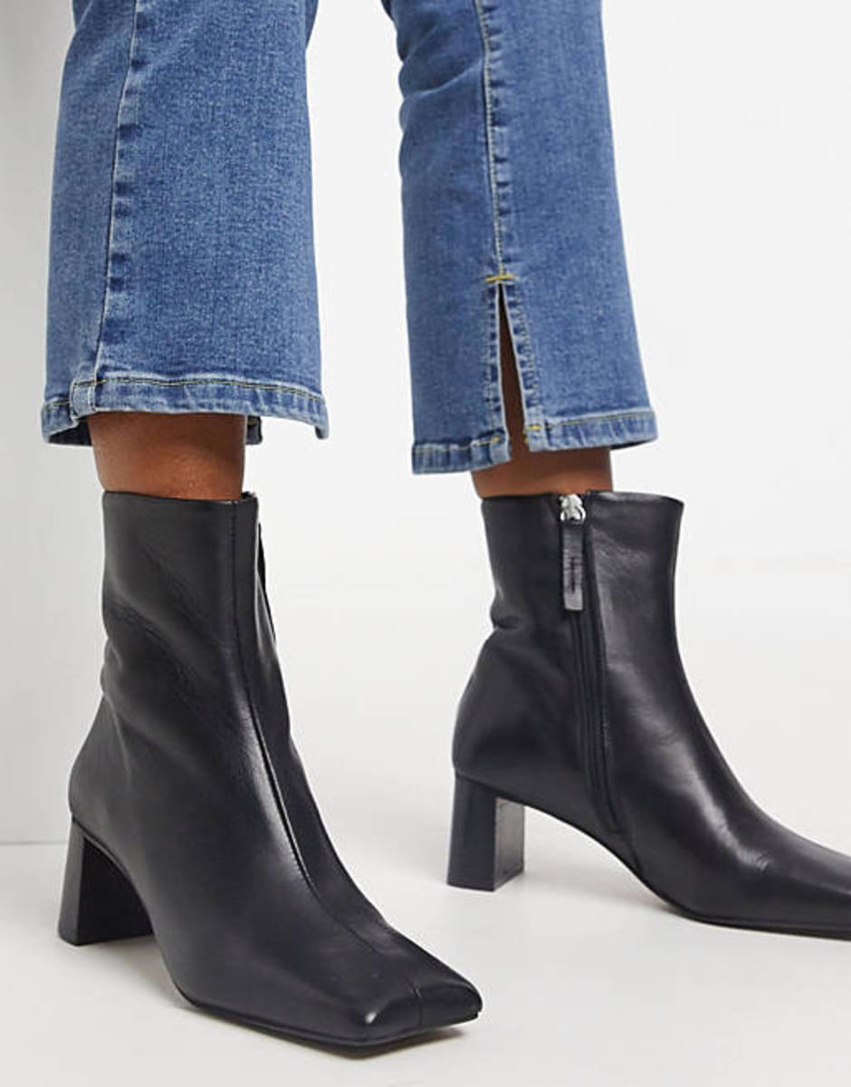 Simple black boots at ASOS